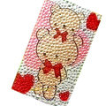 Bear Crystal Bling Diamond Rhinestone Jewellery stickers for mobile phone cases covers - Two