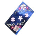 Flower Crystal Bling Diamond Rhinestone Jewellery stickers for mobile phone cases covers - Blue