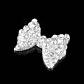 3D Bling Bowknot Alloy Crystal Rhinestone DIY Phone Case Cover Deco Kit - White