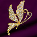 Bling 3D Butterfly Alloy Crystal Rhinestone DIY Phone Case Cover Deco Kit - Gold