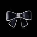 Bling Bowknot Alloy Crystal Rhinestone DIY Phone Case Cover Deco Kit - Black