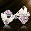 Bling Bowknot Alloy Crystal Rhinestone DIY Phone Case Cover Deco Kit - Pink EB001