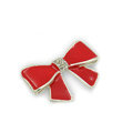 Bling Bowknot Alloy Crystal Rhinestone DIY Phone Case Cover Deco Kit - Red