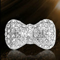 Bling Bowknot Alloy Crystal Rhinestone DIY Phone Case Cover Deco Kit - White EB001