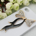 Bling Bowknot Alloy Rhinestone Crystal DIY Phone Case Cover Deco Den Kit - Black