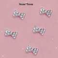 Bling Bowknot Alloy Rhinestone Crystal DIY Phone Cover Case Deco Kit - White HX03
