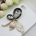 Bling Butterfly Alloy Metal Rhinestone Crystal DIY Phone Case Cover Deco Kit - Black
