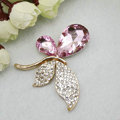 Bling Butterfly Alloy Metal Rhinestone Crystal DIY Phone Case Cover Deco Kit - Pink