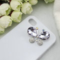 Bling Butterfly Alloy Rhinestone Crystal DIY Phone Case Cover Deco Den Kit - Purple