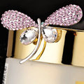 Bling Butterfly Alloy Rhinestone Crystal DIY Phone Case Cover Deco Kit - Pink
