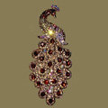 Bling Crystal Peacock Alloy Rhinestone Flatback DIY Phone Case Cover Deco Kit - Champagne