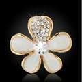 Bling Flower Alloy Metal Crystal DIY Phone Case Cover Deco Kit 25mm - White