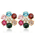 Bling Flower Alloy Rhinestone Crystal DIY Phone Case Cover Deco Kit 23mm - Color