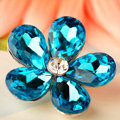 Bling Flower Alloy Rhinestone Crystal DIY Phone Case Cover Deco Kit 30mm - Blue