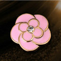 Bling Flower Alloy Rhinestone Crystal DIY Phone Case Cover Deco Kit - Pink