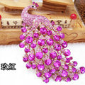 Bling Peacock Alloy Crystal Rhinestone Flatback DIY Phone Case Cover Deco Kit - Rose