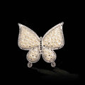 Bling Pearl Butterfly Alloy Crystal Rhinestone DIY Phone Case Cover Deco Kit - Beige