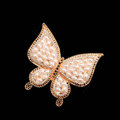 Bling Pearl Butterfly Alloy Crystal Rhinestone DIY Phone Case Cover Deco Kit - Gold