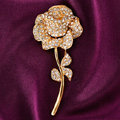 Bling Rose Flower Alloy Rhinestone Crystal DIY Phone Case Cover Deco Kit 60*27mm - Gold