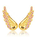Bling Angel wing Alloy Crystal Rhinestone DIY Phone Case Cover Deco Kit 38*15mm - Gold