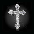 Bling Cross Alloy Crystal Rhinestone DIY Phone Case Cover Deco Kit 45*29mm - White