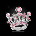 Bling Crown Alloy Rhinestone Crystal DIY Phone Case Cover Deco Kit 22*24mm - Pink