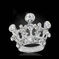 Bling Crown Alloy Rhinestone Crystal DIY Phone Case Cover Deco Kit 22*24mm - White