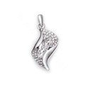 Bling Crystal Alloy Rhinestone Pendant DIY Phone Case Cover Deco Kit 35*16mm - White