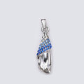 Bling Crystal Alloy Rhinestone Pendant DIY Phone Case Cover Deco Kit 36*10mm - Blue