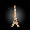 Bling Eiffel Tower Alloy Rhinestone Crystal DIY Phone Case Cover Deco Kit 36*88mm - Gold