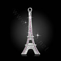 Bling Eiffel Tower Alloy Rhinestone Crystal DIY Phone Case Cover Deco Kit 36*88mm - Pink