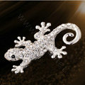 Bling Gecko Alloy Crystal Rhinestone DIY Phone Case Cover Deco Kit 72*45mm - White