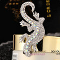 Bling Gecko Alloy Rhinestone Crystal DIY Phone Case Cover Deco Kit 72*45mm - White