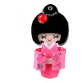 Bling Kimono doll Alloy Rhinestone DIY Phone Case Cover Deco Kit 90*45mm - Rose