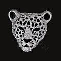 Bling Leopard Alloy Crystal Rhinestone DIY Phone Case Cover Deco Kit 46mm - White
