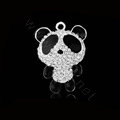 Bling Panda Alloy Crystal Rhinestone DIY Phone Case Cover Deco Kit 37*48mm - White