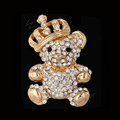 Bling Panda Alloy Rhinestone Crystal DIY Phone Case Cover Deco Kit 34*64mm - White