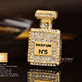 Bling Parfum bottle Alloy Crystal Rhinestone DIY Phone Case Cover Deco Kit 30*50mm - Gold