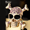 Bling Skull Alloy Crystal Rhinestone DIY Phone Case Cover Deco Kit 55mm - Gold