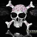 Bling Skull Alloy Crystal Rhinestone DIY Phone Case Cover Deco Kit 55mm - White