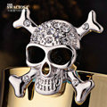 Bling Skull Alloy Rhinestone Crystal DIY Phone Case Cover Deco Kit 30mm - White