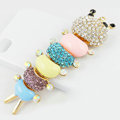 Bling Centipede Alloy Crystal Rhinestone DIY Phone Case Cover Deco Den Kit 31*104mm - Color