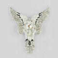 Bling Eagle Alloy Crystal Rhinestone DIY Phone Case Cover Deco Den Kit 66*52mm - White