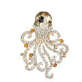 Bling Octopus Alloy Crystal Rhinestone DIY Phone Case Cover Deco Den Kit - Champagne