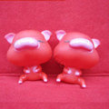 DIY Deco 3D doll Red Pig Plastic Resin Cell Phone Crystal Case Cover