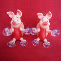 DIY Deco 3D doll Red cut Pig Plastic Resin Cell Phone Crystal Case Cover