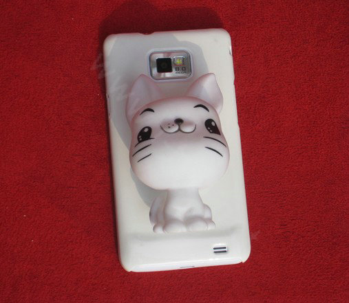 Buy Wholesale DIY Deco Kit 3D Sucker doll Cat Bling Cell Phone Crystal Case Cover White from ...