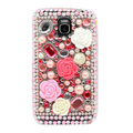 3D Flower Bling Crystal Case Rhinestone Cover for Samsung i9250 GALAXY Nexus Prime i515 - Pink