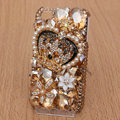 Alloy Crown Bling Crystal Case Rhinestone Cover shell for iPhone 4G 4S - Champagne