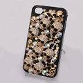 Alloy Skull Bling Crystal Case Rhinestone Cover for iPhone 4G 4S - Black